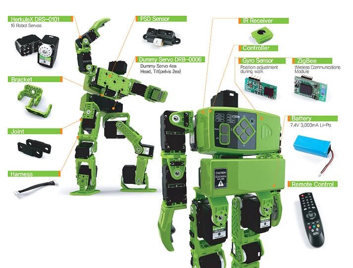 DST Robot - HOVIS Lite Humanoid Robot Kit Features