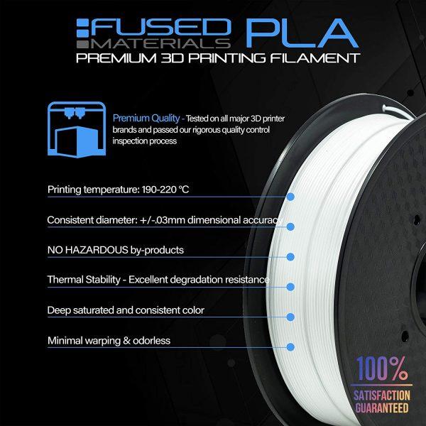 Fused Materials White PLA